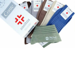 Calza Sanitaria corta made in Italy in filo di scozia maglia rasa